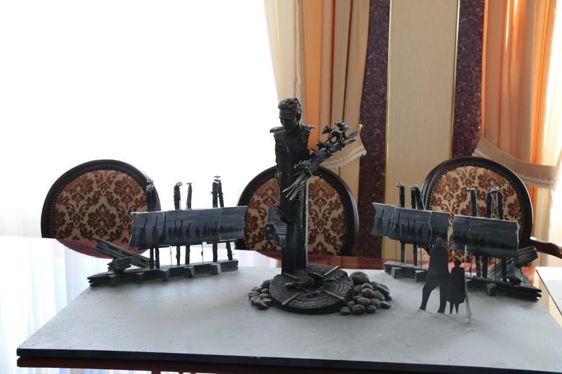 макет скульптурной композиции, посвященной подвигу Шлиссельбургского десанта,Антон Иванов.